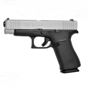 GLOCK G48 Silver slide, NS Steel, Compact - 9 mm Luger