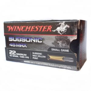 Winchester SUBSONIC .22 Mag, HP - 45 GR