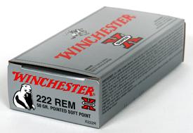 Winchester 222REM SUPER-X 50GR PSP 20