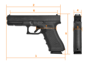 GLOCK G17, set Gen.4,  NS green,Standard, кал.  9 mm Luger