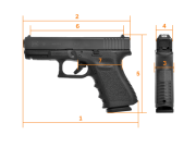 GLOCK G19,  Gen 3, Compact - 9 mm Luger
