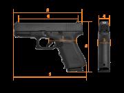 GLOCK G19 Gen.4 / Thr M13,5x1L, Compact, кал. 9 mm Luger